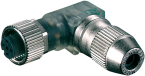 MOSA M12 FEMALE 90° 2LED FIELD-WIREABLE (IDC)