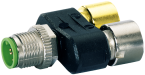 T-COUPLER SLIMLINE M12 MALE / 2X M12 FEMALE