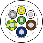50m Vert.Ltg. PUR/PVC-JB 4x0,34+3x0,75