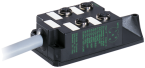 M12-DISTRIBUTOR BOX 4-WAY, 5-POLE WITHOUT LED