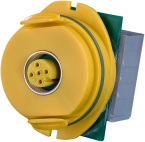 MODLINK  M12 A COD/CLAMP YELLOW