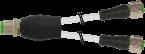 M12 male Y-distributor / M12 female 0° V2A