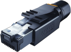 RJ45 PROFESSIONAL MALE 0° 4 POL. SHIELDED