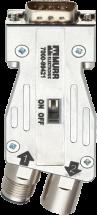 M12/D-Sub Profibus Adapter 180°