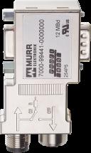 M12/D-Sub Profibus  Adapter Mini 90°