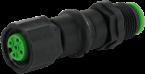 Adapter M12 Lite St. auf M12 Lite Bu. 4pol.