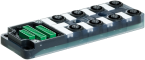 EXACT12, 8XM12, 5-POLE, BASIC HOUSING, NPN-LED'S