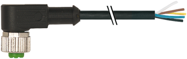 M12 Bu. gew. mit freiem Leitungsende V2A