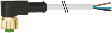 M12 female 90° with cable