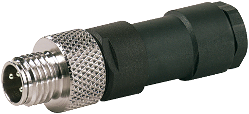 M8 MALE 0° FIELD-WIREABLE (SOLDER PINS)