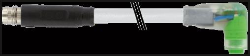 M8 St. 0° snap-in / M8 Bu. 90° snap-in LED