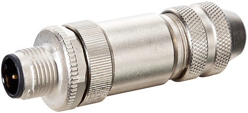 M12 MALE 0° B CODED SHIELDED WIREABLE SCREW TERM.