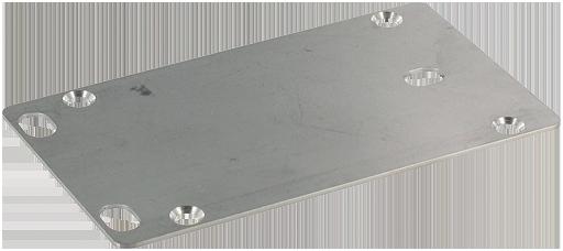 V2A-Bodenplatte MVP Metall 4-fach