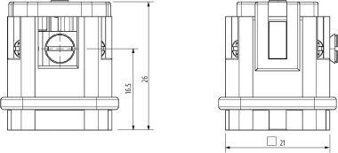 A3 Stift 3-polig, Schraub, 400 V, 10 A