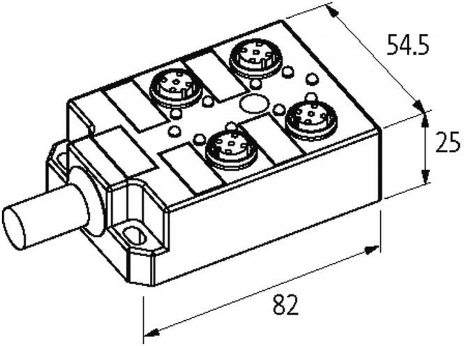 Passive Di0 Plastic4xm125polpre Wired Cable At Murrelektronik