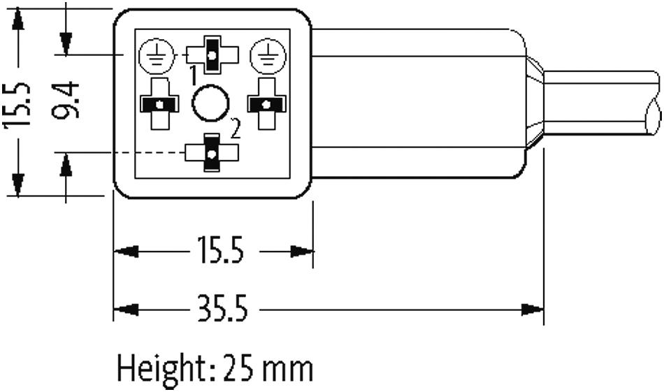 MSUD Ventilst. BF CI 9,4 mm, freies Leitungsende im Murrelektronik ...