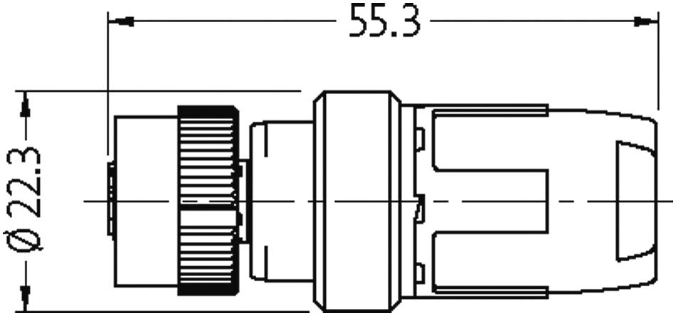 1 Stk Murrelektronik 7000-12641-0000000 Buchse M12 gerade 4-pol