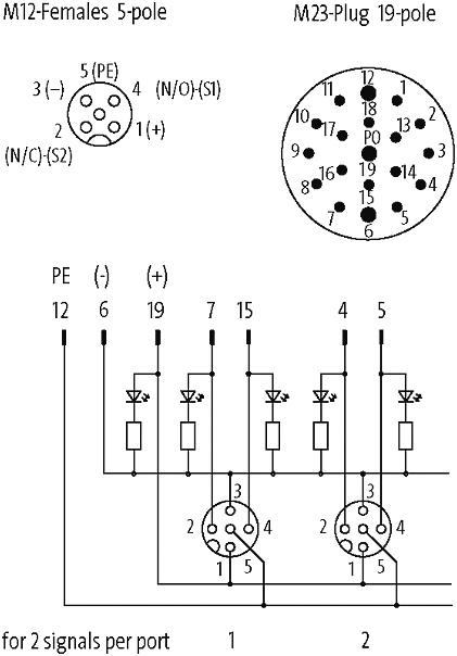 m8 pin diagram mvp12  8xm12  5pol  steck m23 19pol im murrelektronik  mvp12  8xm12  5pol  steck m23 19pol im murrelektronik